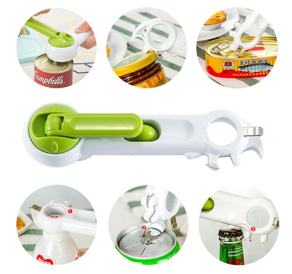 Multifunctional Can and Bottle Opener