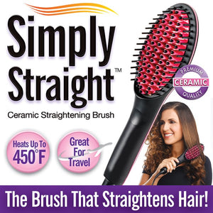 Simply Straight™ Ceramic Hair Straightening Brush
