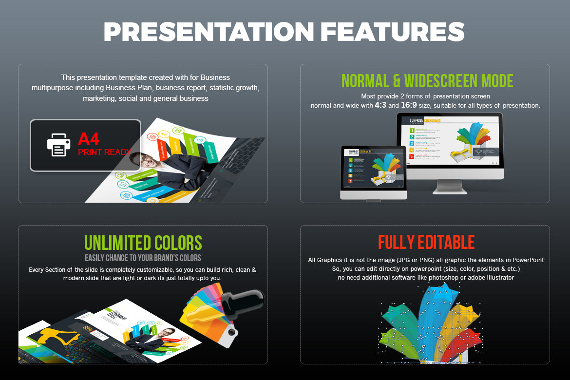 businessplan powerpoint presentation template – templatesstudio, Screen Printing Company Presentation Portfolio Template, Presentation templates