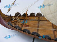 RealTS Classic wooden scale sailing boat wood scale ship 1/50 Viking ships scale assembly model ship building kit scale boat - ardens toys