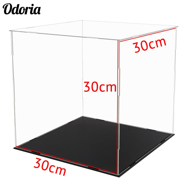 12 in. Acrylic Display Case Self-Install Clear Cube Box For Action Figures - ardens toys