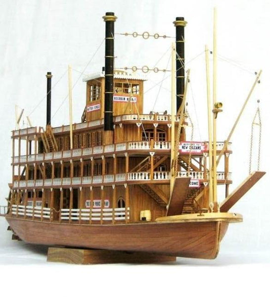 new wood boat 1/100 classic wooden steam-ship USS Mississippi model kit, - ardens toys