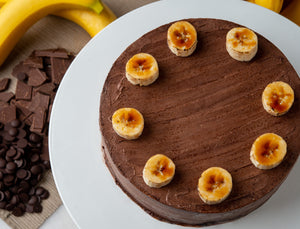 100% Vegan - Chocolate Banana Cake