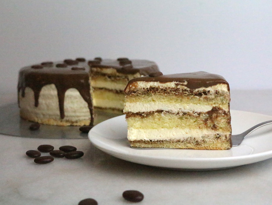 Coffee-Vanilla Cream Cake