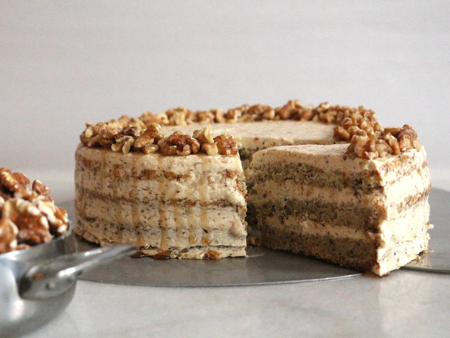 100% Vegan - Maple Walnut Cake