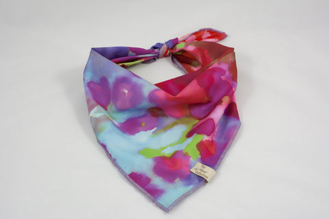 Watercolor Satin Bandana - The Moxie Collection