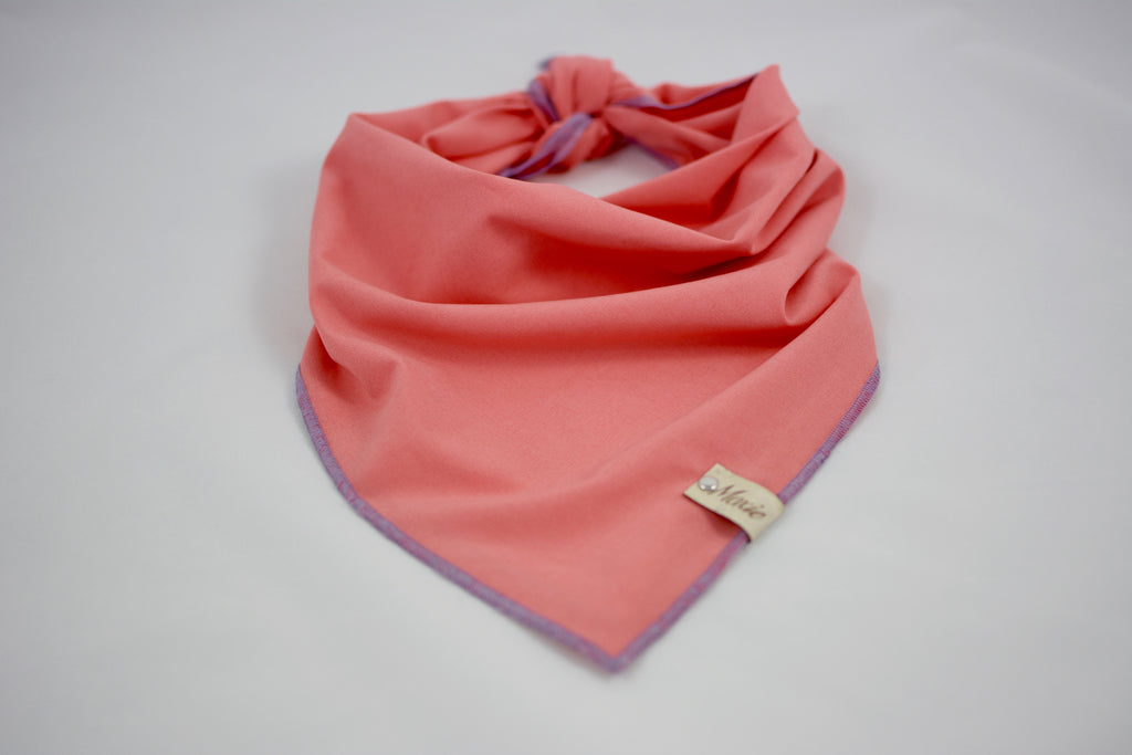 Coral Matte Satin Bandana - The Moxie Collection