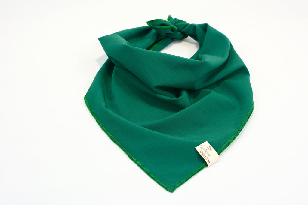 Green Matte Satin Bandana - The Moxie Collection