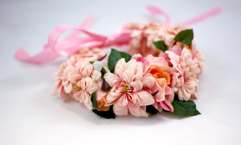 Pink Flower Crown - The Moxie Collection