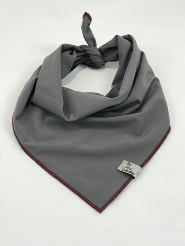 Grey Matte Satin Bandana - The Moxie Collection