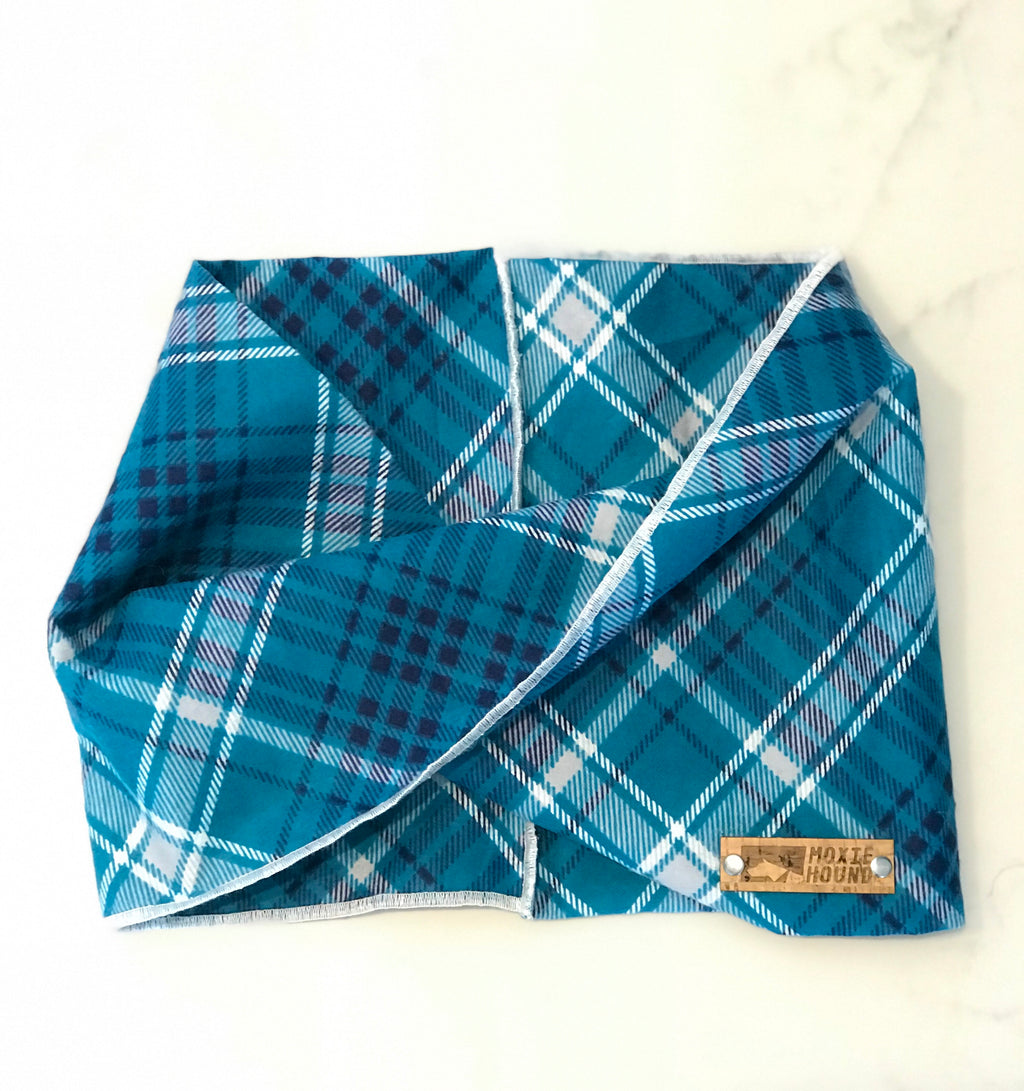 Glacier Plaid Infinity Scarf - The Moxie Collection