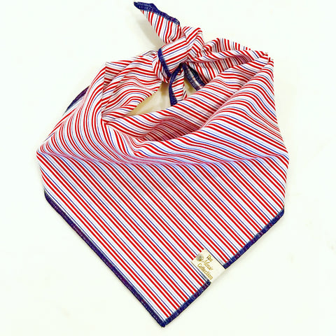Patriotic stripes Bandana - The Moxie Collection