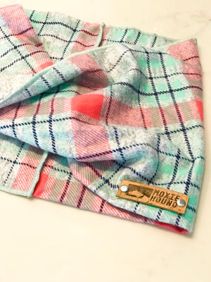 Mint Twist Plaid Infinity Scarf - The Moxie Collection