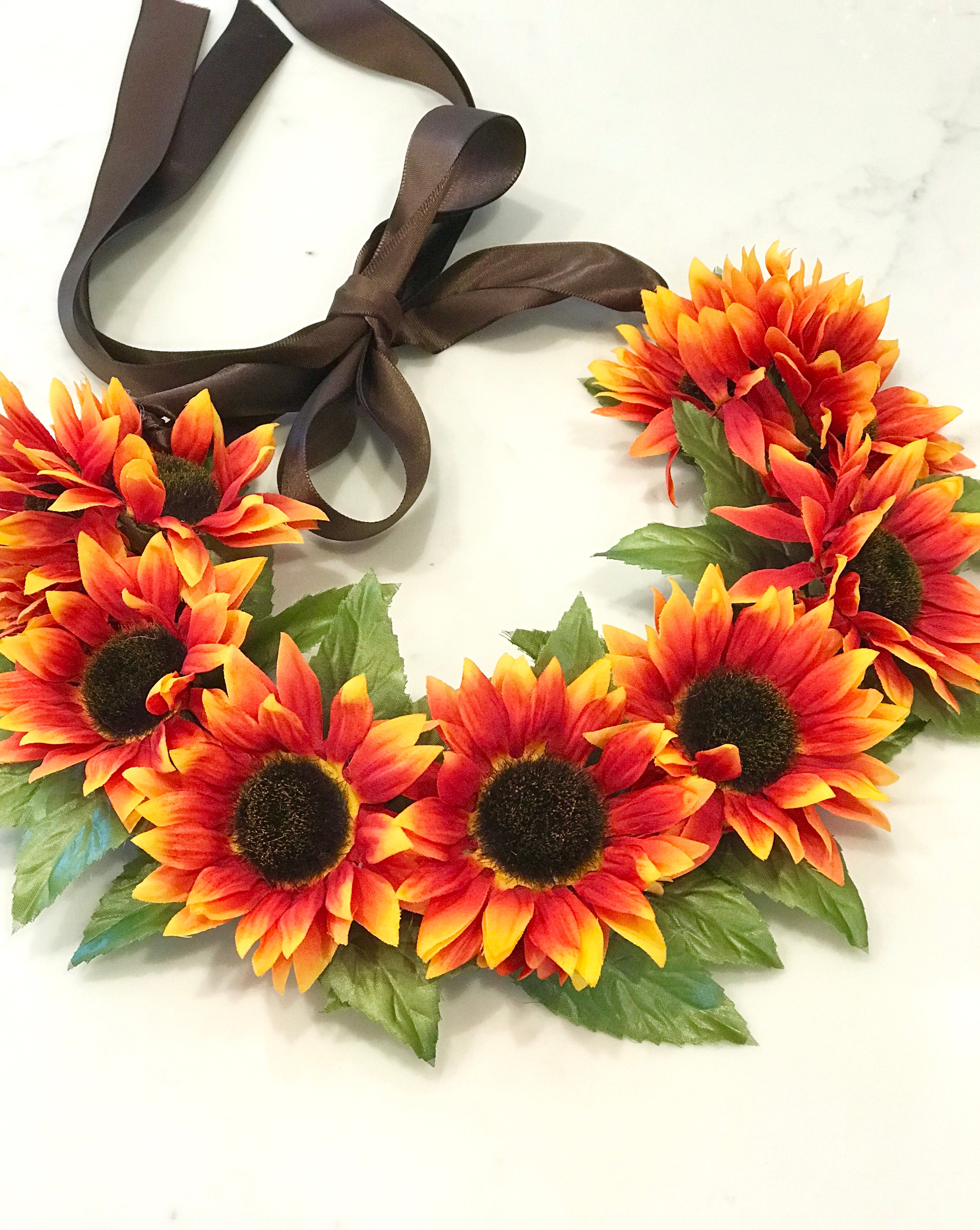 Sunflower Flower Crown The Moxie Collection