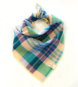 Summer Plaid Bandana - The Moxie Collection