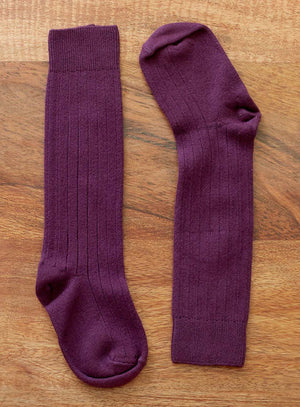 Knee High Socks - Aubergine