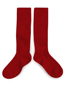 Knee High Socks - Rouge Carmin