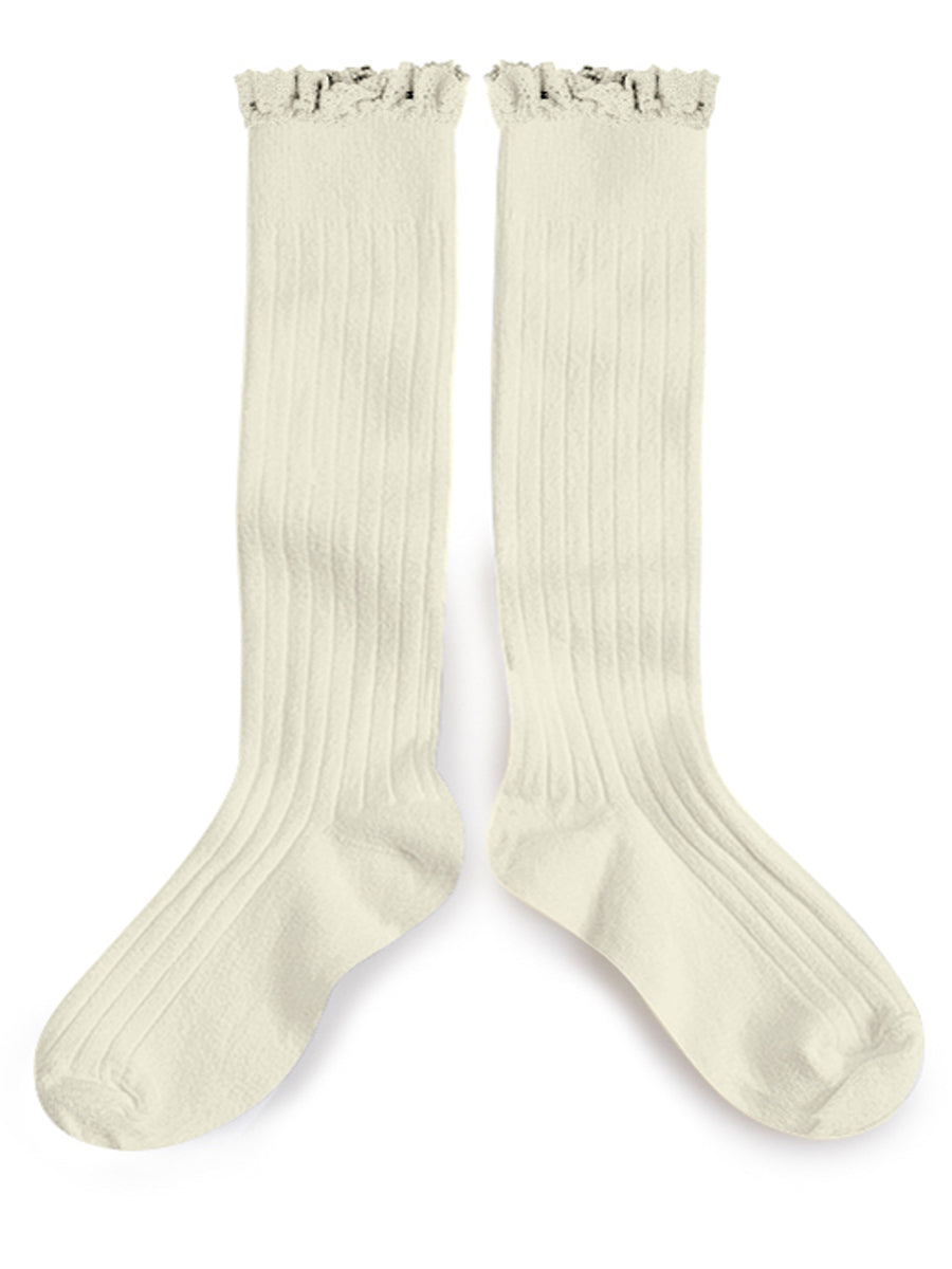 Ruffle Knee High Socks - Doux Agneaux