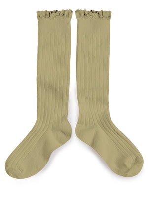 Ruffle Knee High Socks - Petit Taupe