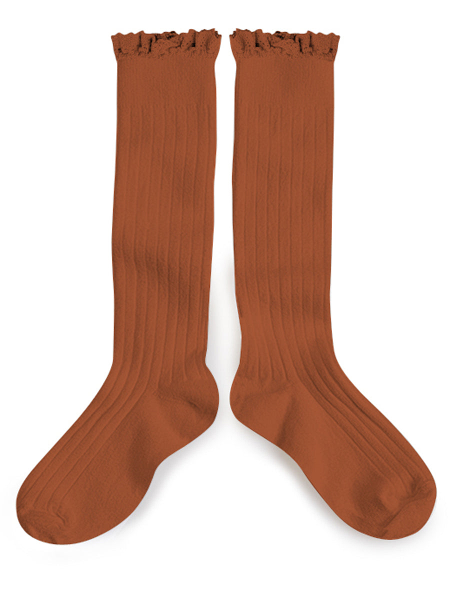 Ruffle Knee High Socks - Pain D Epice