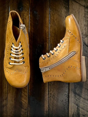 Above Ankle Boots - Mustard