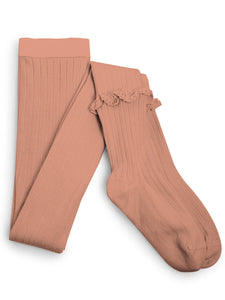 Ruffle Tights - Bois De Rose