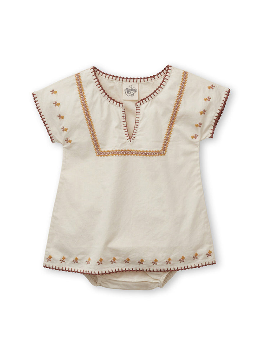 'Rose' Tunic Set - Milk