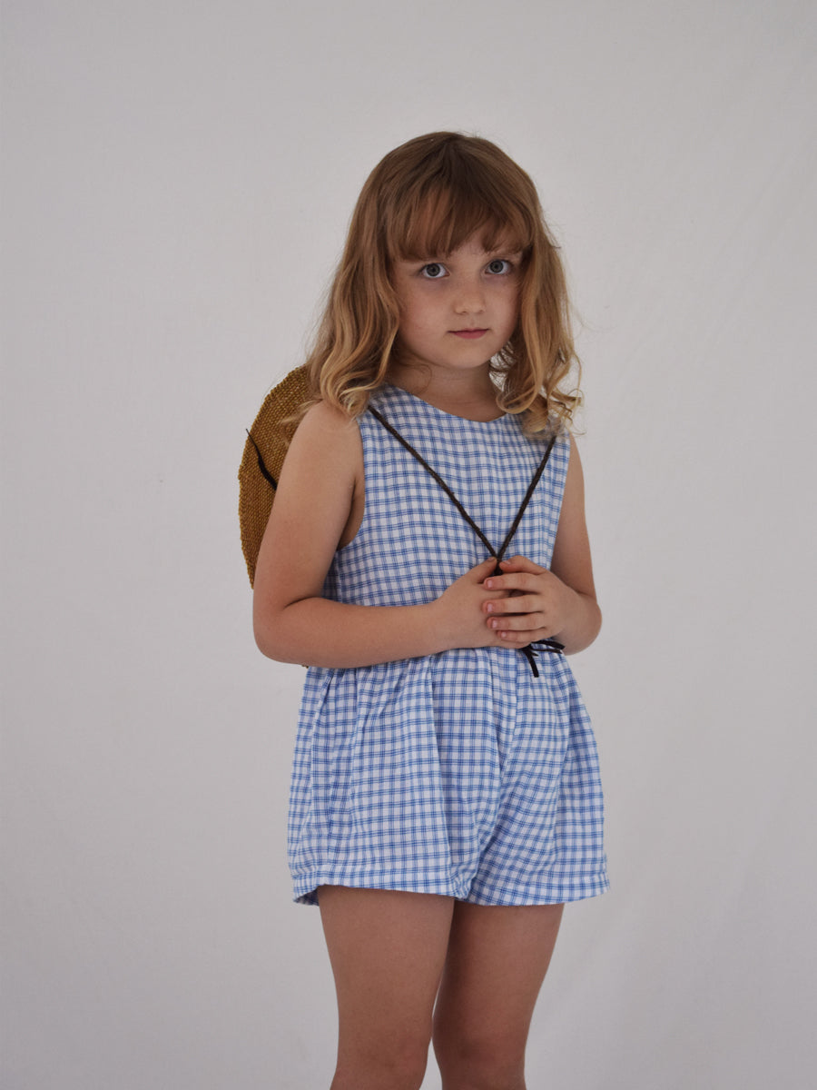 Juneau Sunsuit - Bluebird Check