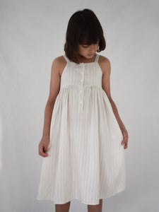 Picnic Dress - Birch Woven Stripe