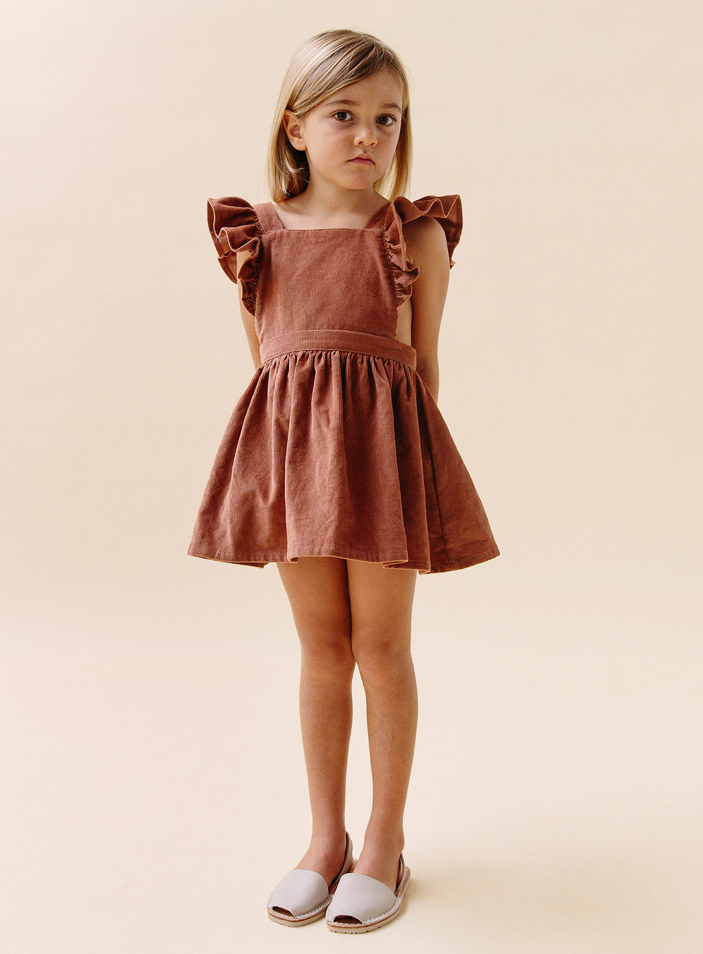 Dusk Pinafore - Rose Cord