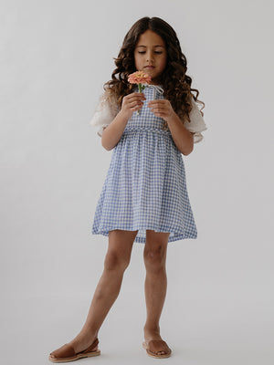 Greta Dress - Bluebird Check