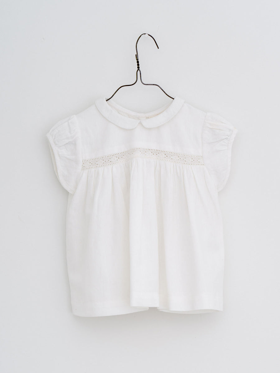 Juno Lacy Blouse - Off White