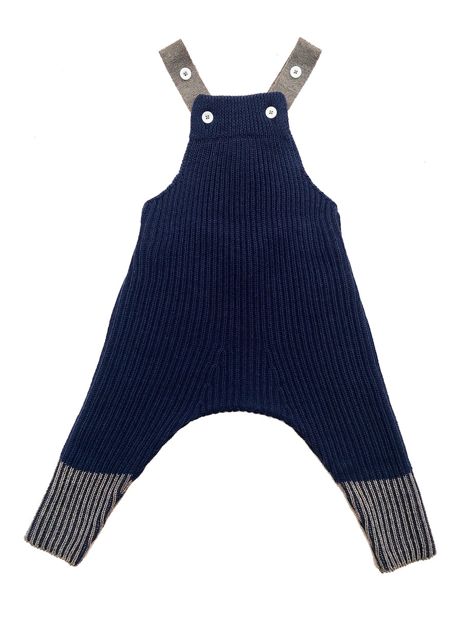Rhesi Dungarees-Soft Navy/Walnut