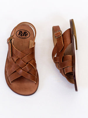 Cross Strap - Kava Brown