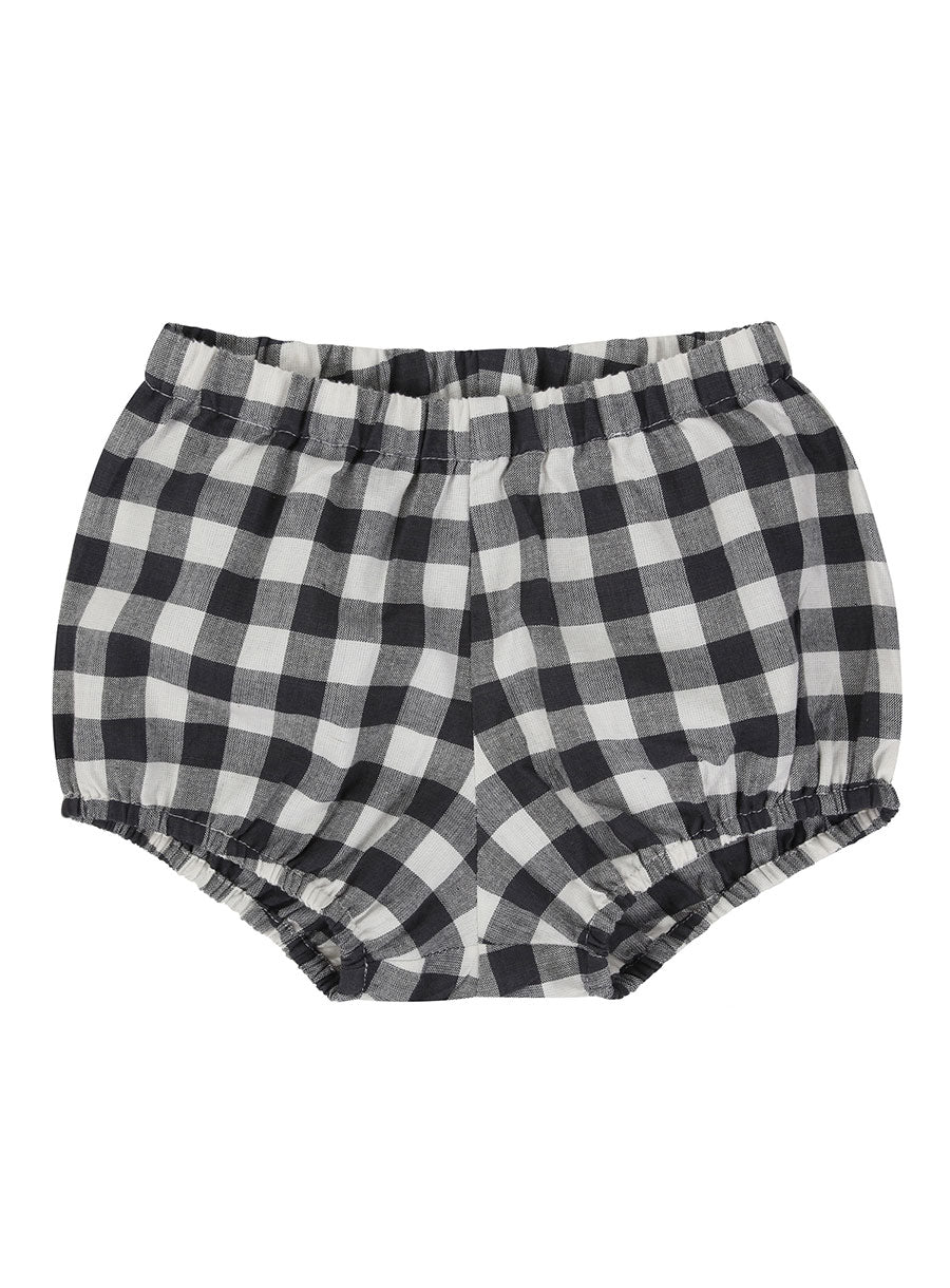Poppy Bloomers - Charcoal Gingham
