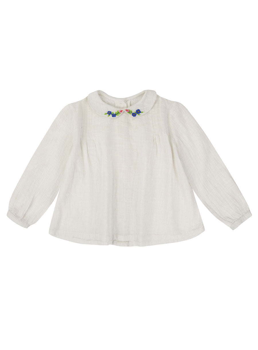 Wendy Blouse - White With Embroidery