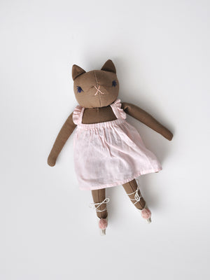 PDC Medium Ballet Cat - Pink Dyed Dress & Shoes