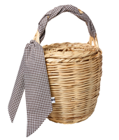 Bangs Birkin Basket | Check Brown