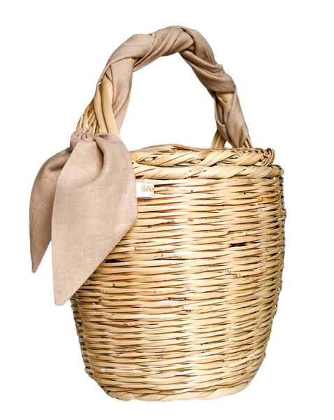 Bangs Birkin Basket | Lovely Linen Sand