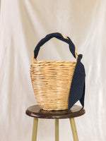 Bangs Birkin Basket | Parisian Dots Blue