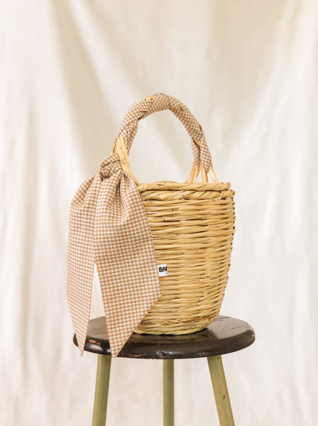 Bangs Birkin Basket | Check Beige