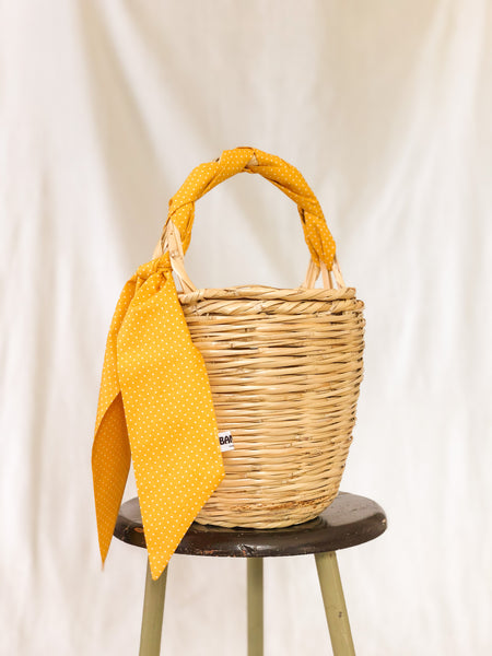 Bangs Birkin Basket | Parisian Dots Yellow