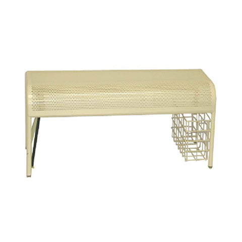 SHOE BENCH WITH MIRROR IVORY