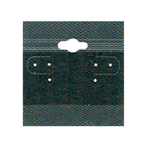 "EARRING CARD BLACK 2"" X 2"""