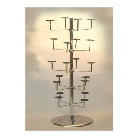 REVOLVING HAT RACK CHROME