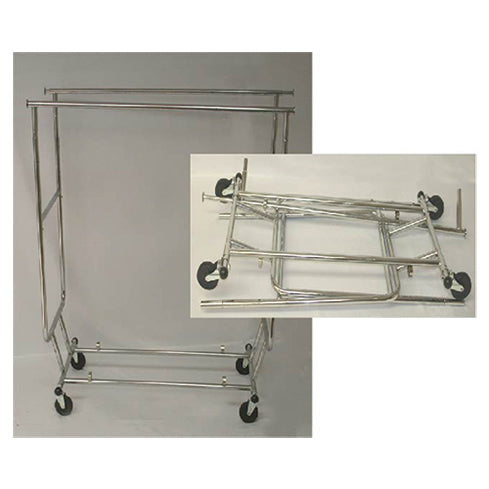 DOUBLE SALESMAN RACK CHROME