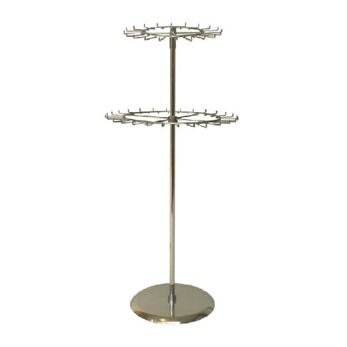 2 TIERS REVOLVING BELT & TIE RACK CHROME