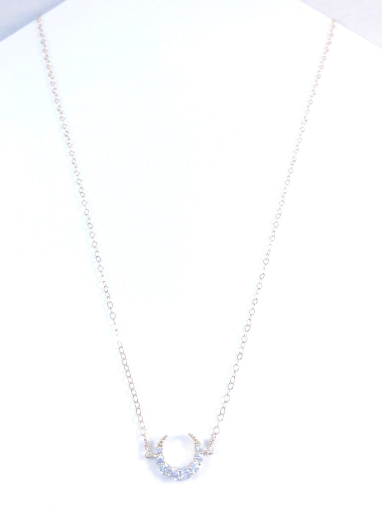 Mini Crescent Topaz Necklace