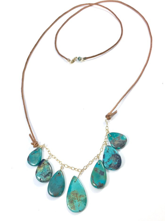 Turquoise Multi Teardrop Necklace