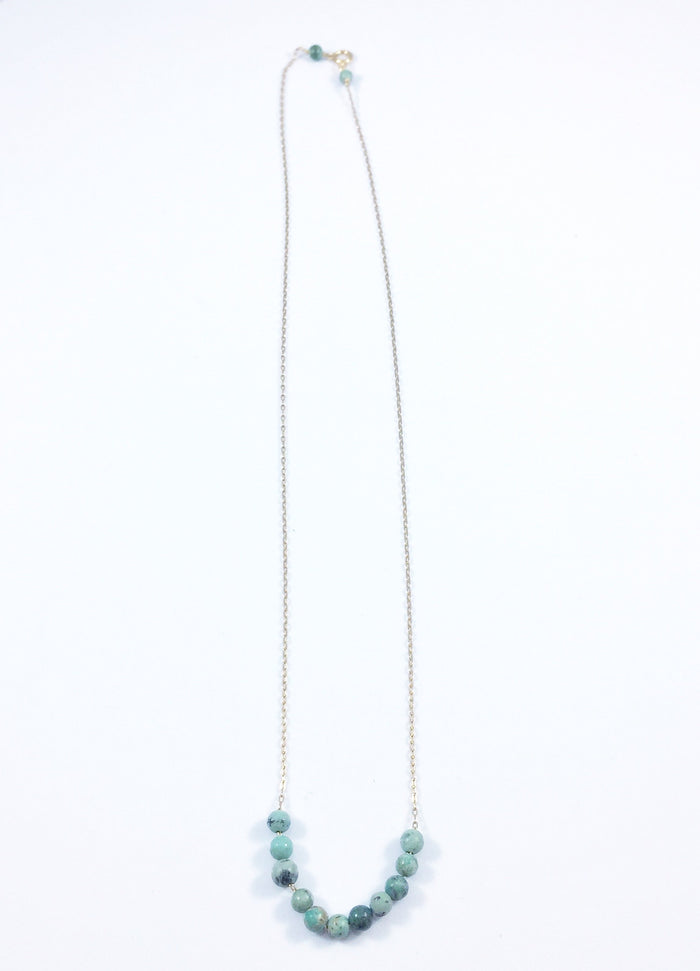Turquoise Mini Beads Necklace